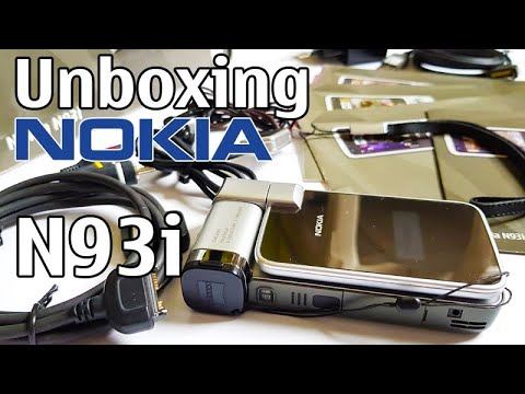 Nokia N93i Unboxing 4K with all original accessories Nseries RM-156 review