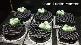 Square Shape Cake | Chocolate Flower Cake | Sunil Cake master | Yummy Cake Cool Cake