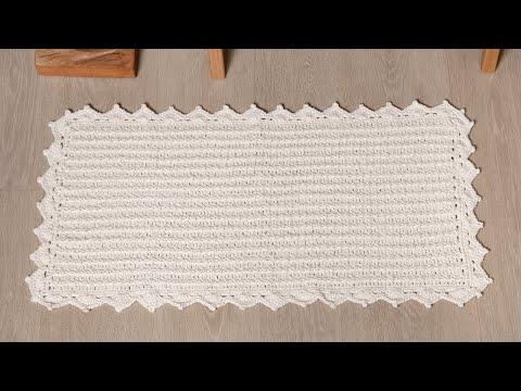 Tapete de Crochê Fácil por Sandra Brum