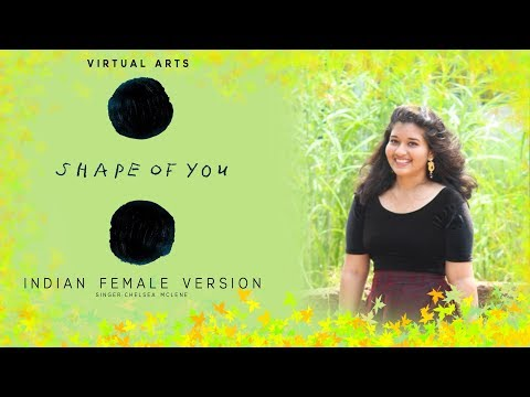 VIRTUAL ARTS - SHAPE OF YOU INDIAN FEMALE VERSION WITH DANCE CHOREOGRAPHY