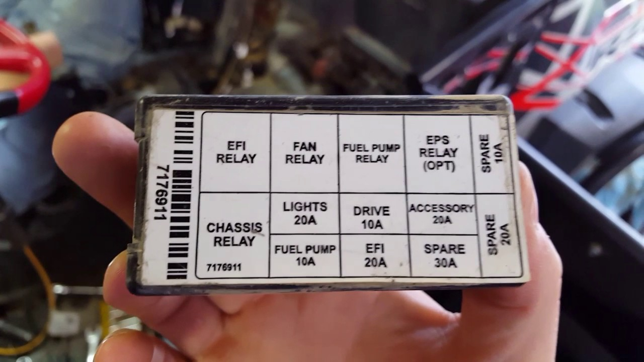 Rzr 800s fuse box lid  YouTube