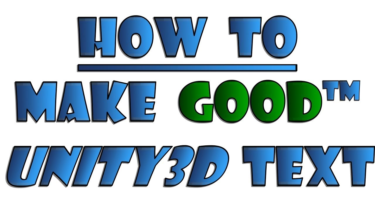 How to make pretty text in Unity3D with TextMeshPro / TMPRO
