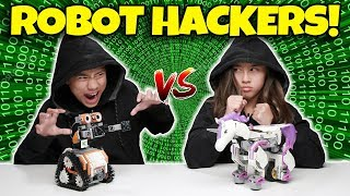 TWIN ROBOT CHALLENGE!! Brother vs Sister JIMU Robot Hacker Challenge!