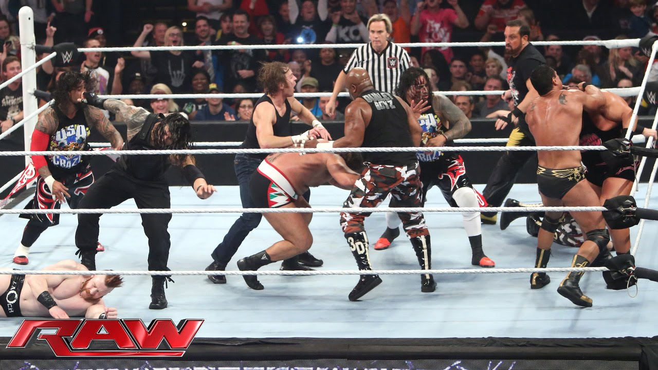 Download 16-Man Fatal 4-Way Elimination Tag Team Match: Raw – 7. Dezember 2015