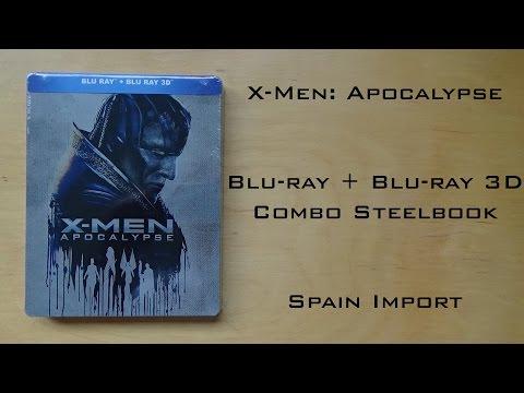 X-Men:Apocalypse 3D Blu-ray + Blu-ray Combopack Steelbook Spain Import