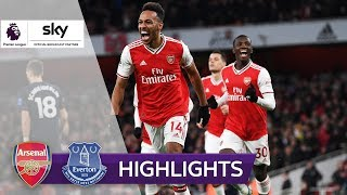 Arsenal dank Aubameyang in 2020 weiter ungeschlagen! | FC Arsenal - FC Everton 3:2 | Highlights
