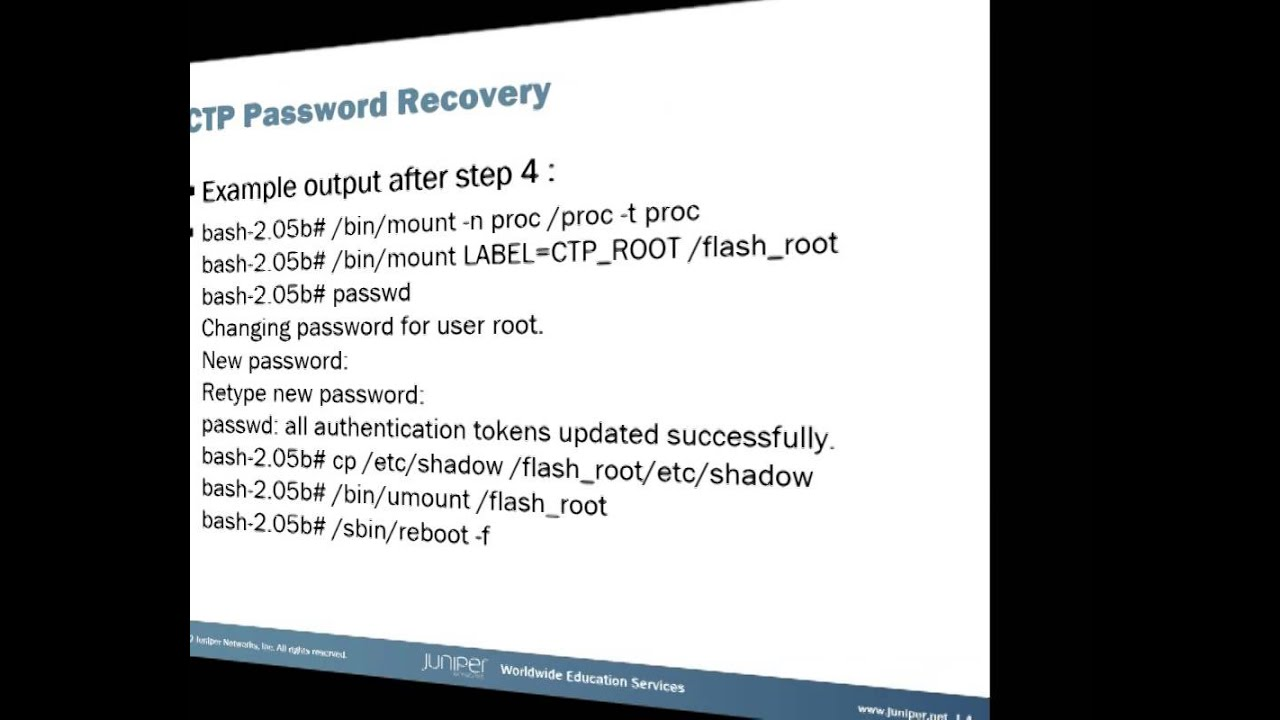 CTP Password Recovery
