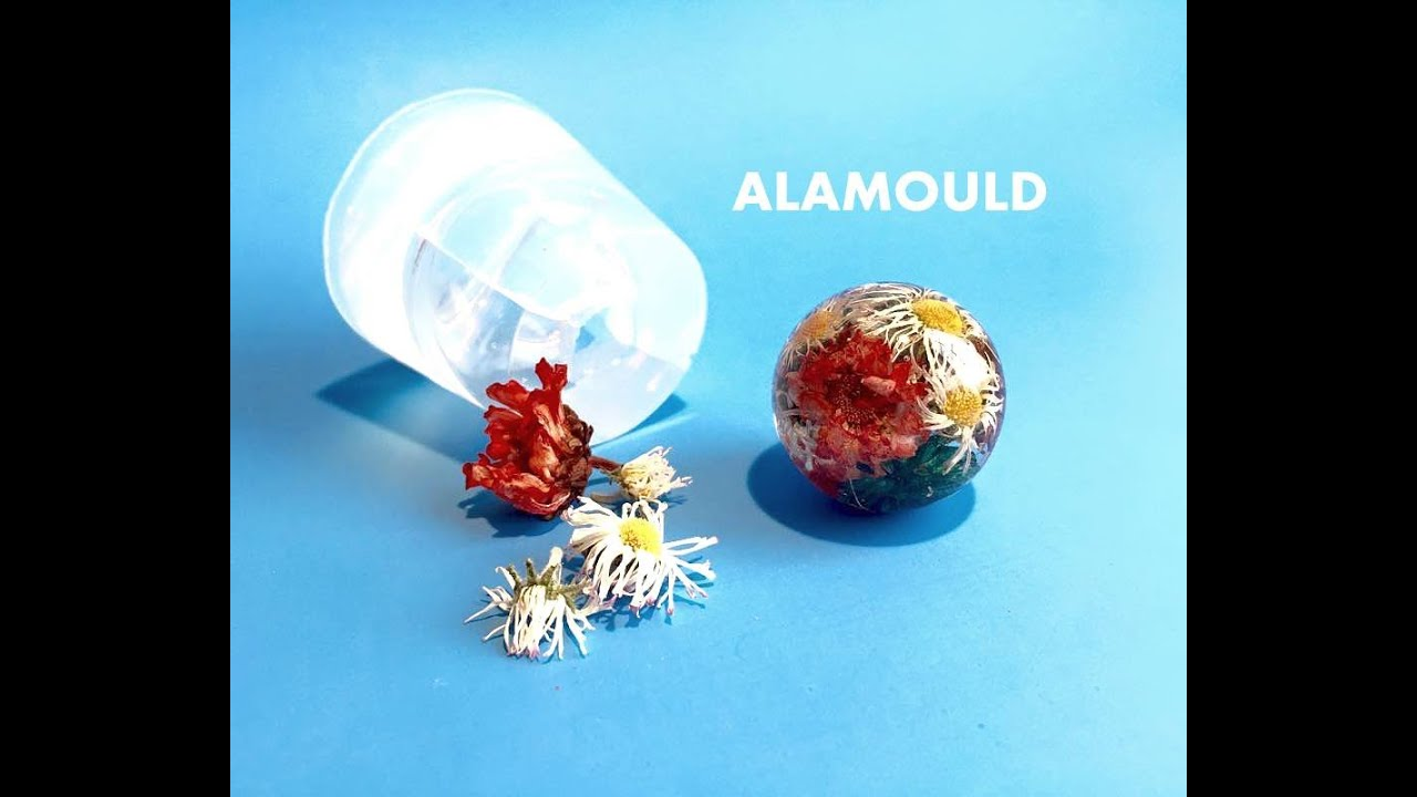 How to make resin orb pendant with flowers using clear mold youtube premium aloadofball Images