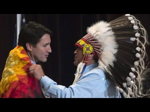 Justin Trudeau warmly welcomed by First Nations leaders