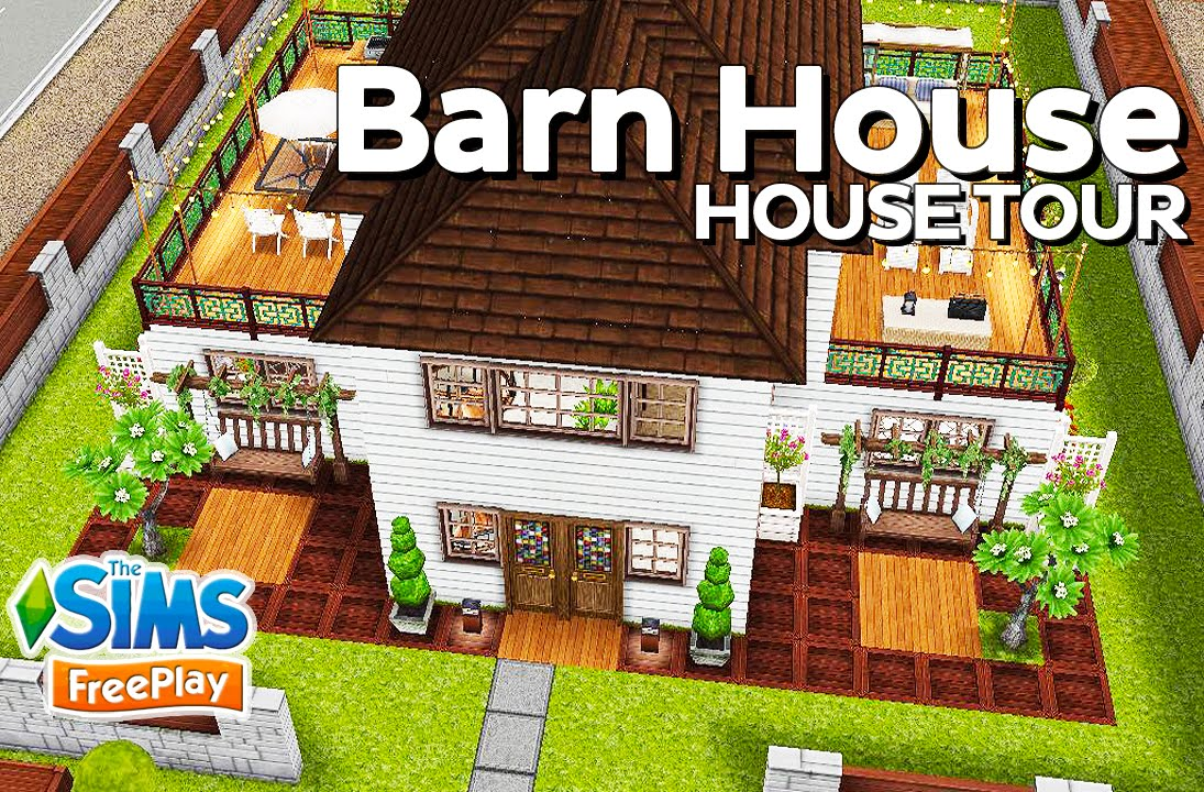 The Sims Freeplay Barn House Original Design Youtube