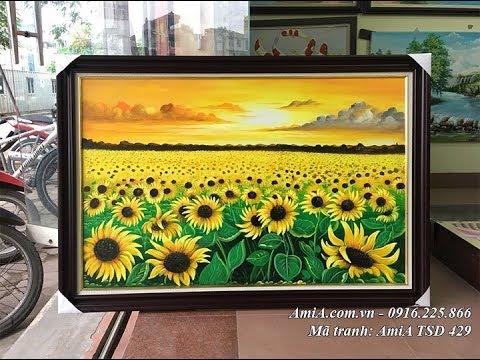 Tranh sơn dầu đồng hoa hướng dương – Siêu thị tranh AmiA – 0916.225.866
