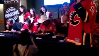 Carl's Chicken-wing Eating Contest