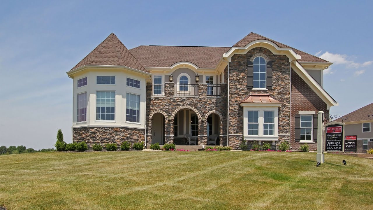 The Nottoway Floorplan By Fischer Homes Model Home In Overbrook Farms Youtube