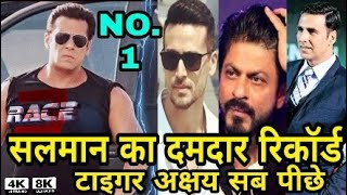 Race 3 Breaks All records of bollywood film | Salman Khan Record, Akshay Aamir, Tiger shroff सब पीछे