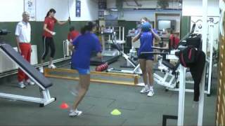 physical training for volleyball team