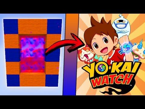 Minecraft COMO hacer un PORTAL a la DIMENSION de YOKAI WATCH | COMO HACER UN PORTAL DE YO KAI WATCH