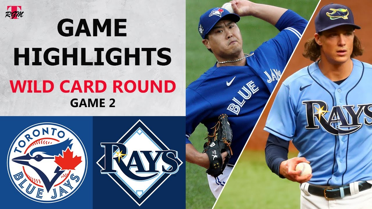 Toronto Blue Jays vs. Tampa Bay Rays Game 2 Highlights | Wild Card Round (2020)