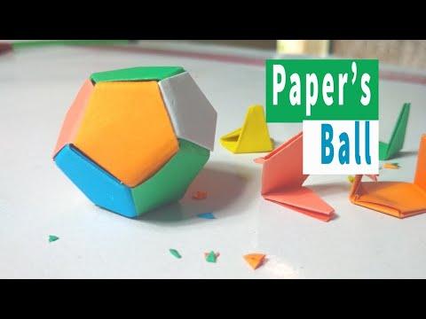 DIY & Craft: কি সুন্দর কাগজের বল ।  Paper Soccer Ball Mini Origami