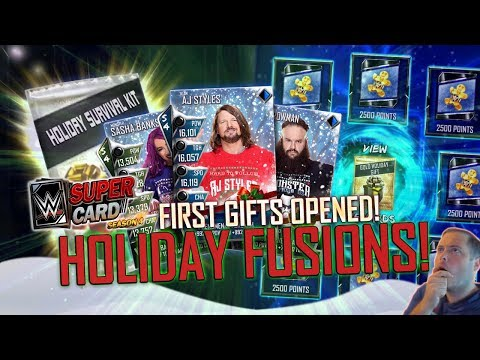 FIRST HOLIDAY FUSIONS! NEW GIFT PACKS OPENED! | WWE SuperCard S4