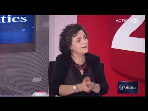 26/6/2019 Η Ν. Βαλαβάνη συζητά στην εκπομπή politics του Action24 με τον  Γ. Πολίτη