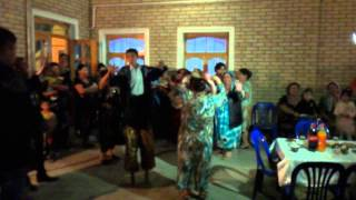 Musicians play the karnay. Uzbek wedding. Bukhara. 2013\ 1