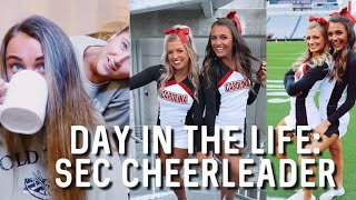 DAY IN THE LIFE OF A SEC CHEERLEADER | rivalry game!!