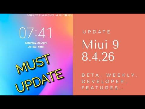 Miui 9 Update 8.4.26 Beta   Finally A Good Update Before Suspension   Hindi - हिंदी