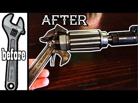 DIY Scrap Wrench Welding Art - Crescent Wrench Gun Sculpture