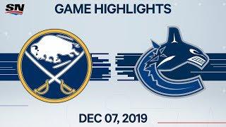 NHL Highlights   Sabres vs. Canucks – Dec. 07, 2019