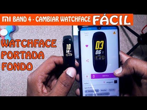 Mi Band 4 - Cambiar WatchFaces, Portada, Fondo FÁCIL