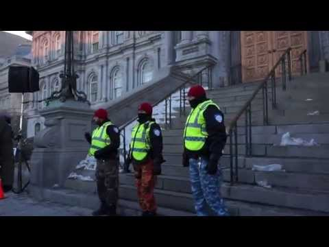 White Collar City Workers Protest Montreal City Hall March 23 2015 00061