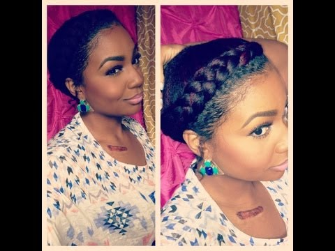 natural hair style goddess braid
