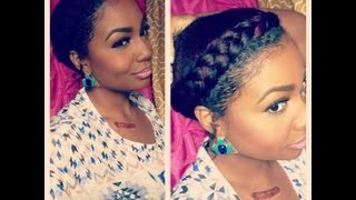 Repeat youtube video Natural Hair Style: Goddess Braid