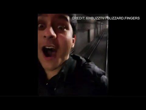 Dangerous joyride: man films himself riding back of TTC subway car
