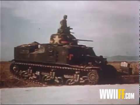 AT THE FRONT in North Africa – U.S. Army World War II – 1942 COLOR