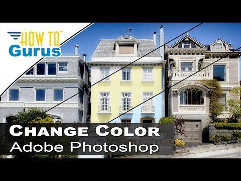 Photoshop Architecture :Change House Color to Match Swatch : CC 2018 CS6 CS5 Tutorial