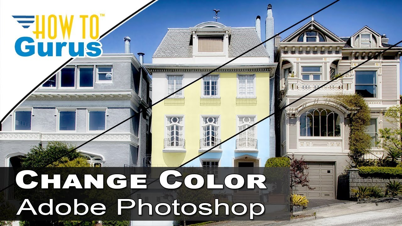 Photoshop Architecture Change House Color To Match
