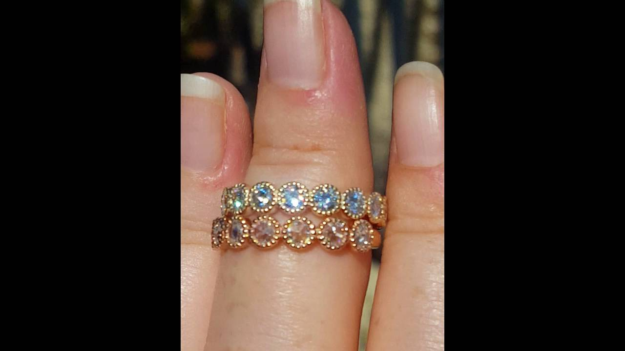eternity gold transgems jewelry in rings from ring item grown engagement moissanite wedding diamond band real lab bands