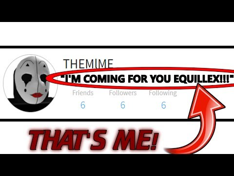 I AM BEING TARGETED BY A ROBLOX HACKER GROUP! *SCARY* (Roblox The Mime)