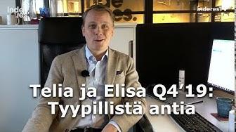 Telia ja Elisa Q4'19: Teleoperaattoreilta tyypillinen anti