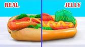 Gummi Essen vs Richtiges Essen