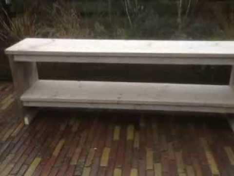 Sidetable van gebruikt steigerhout youtube for Sidetable steigerhout
