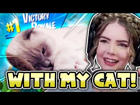 FORTNITE WITH MY CAT! - Loeya Plays Fortnite Battle Royale