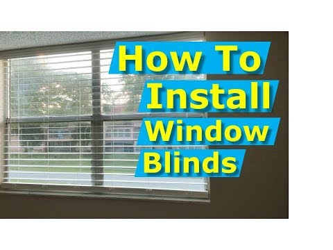 How to Install Window Blinds - Cordless, DIY