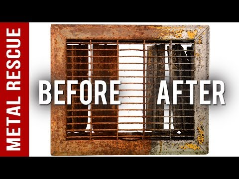 How To Remove Rust From A Heat Vent Cover or Grate