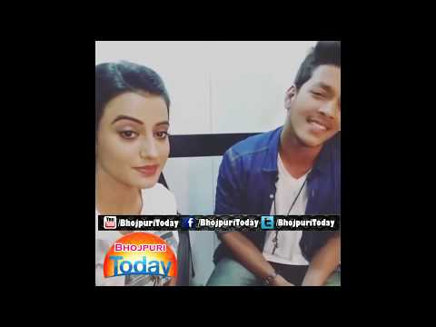 Akshara Singh Rishab Golu Singing Song On Bhojpuri Movie Tridev Set