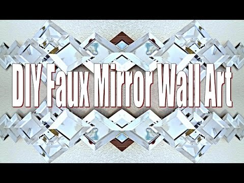 Dollar Tree DIY Wall Mirror (Faux Mirror Art Piece)