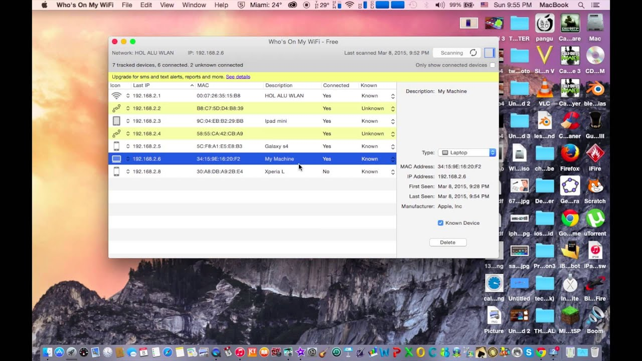 How to see who is using your wifi on Mac os x