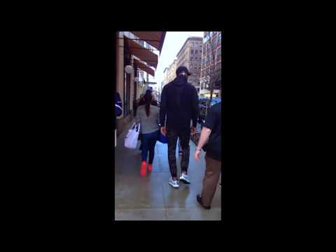 LeBron James Ignores Fans While Walking to Trump SoHo Hotel