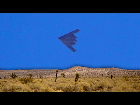 We Caught a STEALTH BOMBER Today in the Mojave Desert!